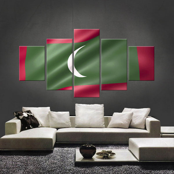 HD PRINTED LIMITED EDITION MALDIVIANS (MALDIVES) FLAG CANVAS (FLAG120028)