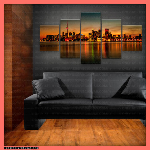 HD PRINTED LIMITED EDITION TORONTO, CANADA CANVAS (TRONTO620004)
