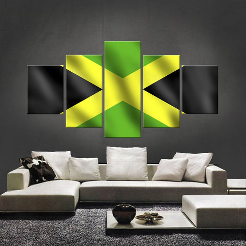 HD PRINTED LIMITED EDITION JAMAICAN (JAMAICA) FLAG CANVAS (FLAG120026)