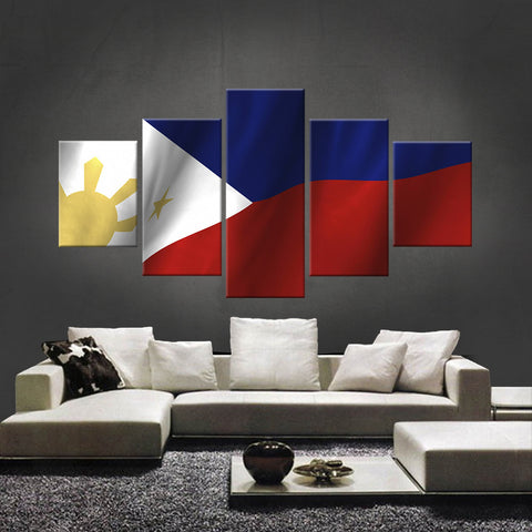 HD PRINTED LIMITED EDITION FILIPINO (PHILIPPINES) FLAG CANVAS (FLAG120031)