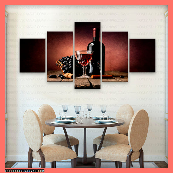 HD PRINTED LIMITED EDITION WINE LOVERS CANVAS (WINE61515409)