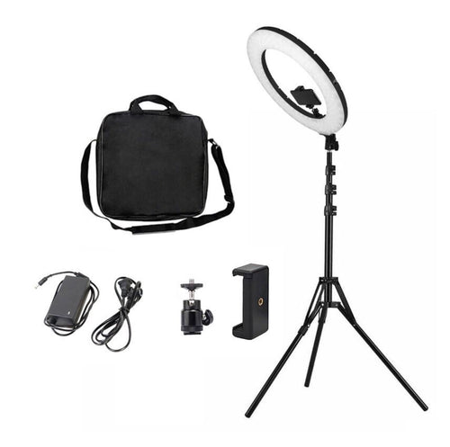 "SelfieLight ELITE 18"" - 18inch Ring Light + FREE Sturvy MoonBag"