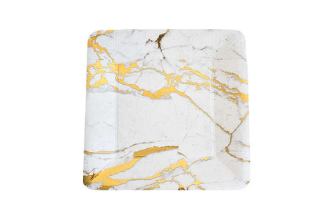 Paper Plates - Square Marble