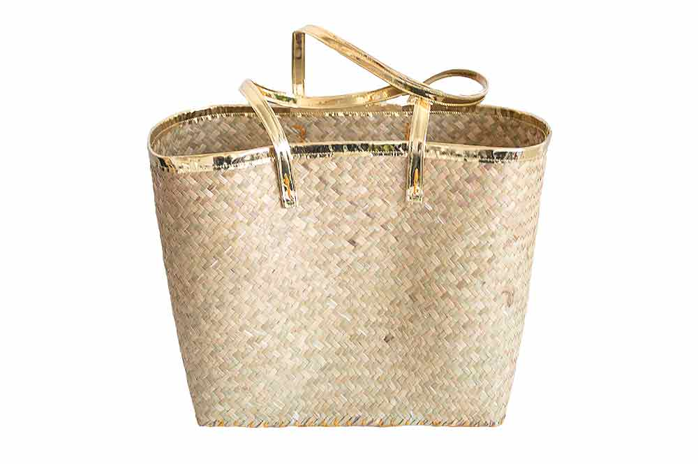 Bag - Penjy Basket with Gold Trim