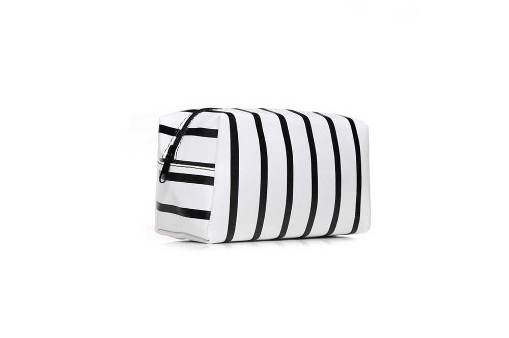 Bag - Make-up Black Striped