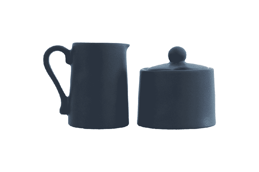 Milk Jug & Sugar Bowl Set - Wonky Black