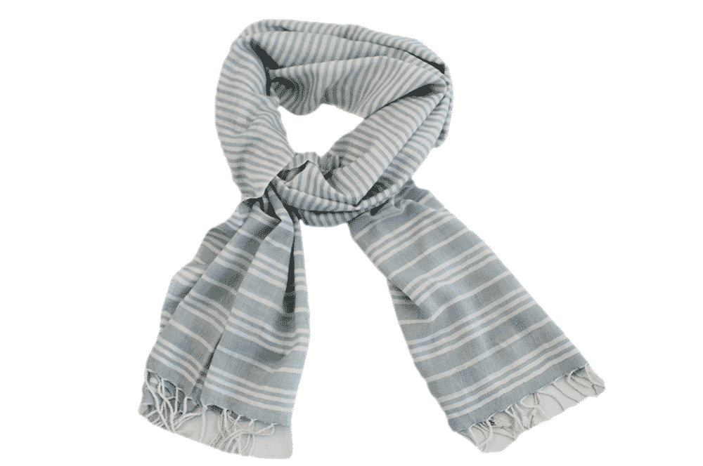 Scarf - Pastel Blue and White Stripe