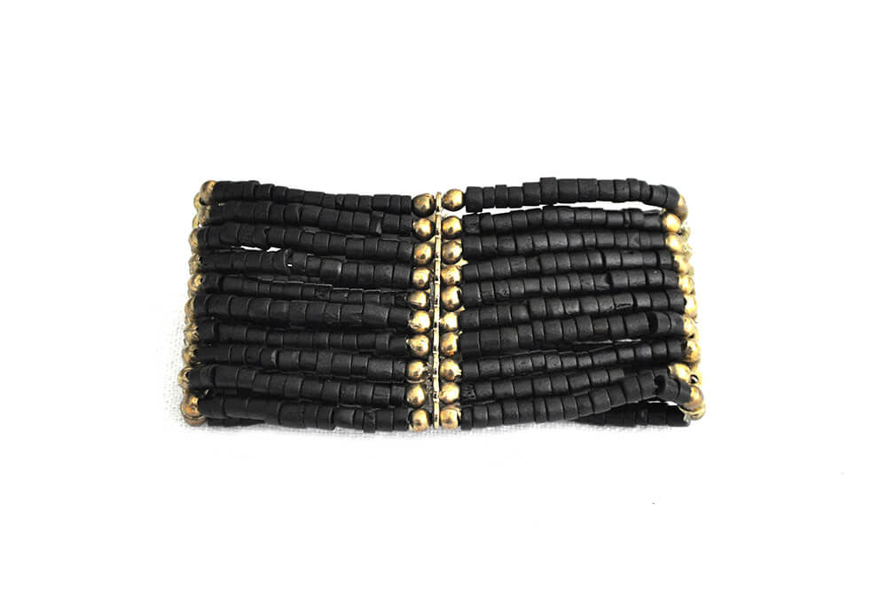 Bracelet - Black and Gold Multistrand