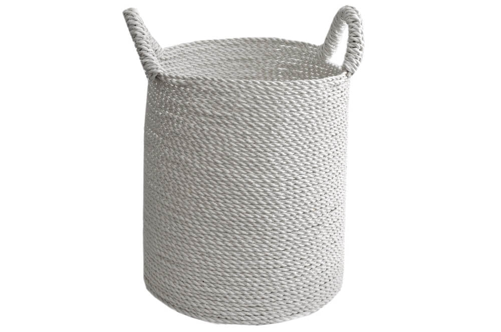 Basket - Seagrass Laundry White Small