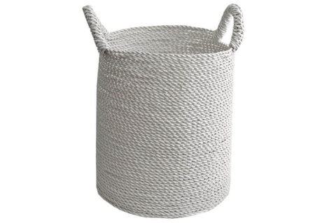 Basket - Seagrass Laundry White Medium