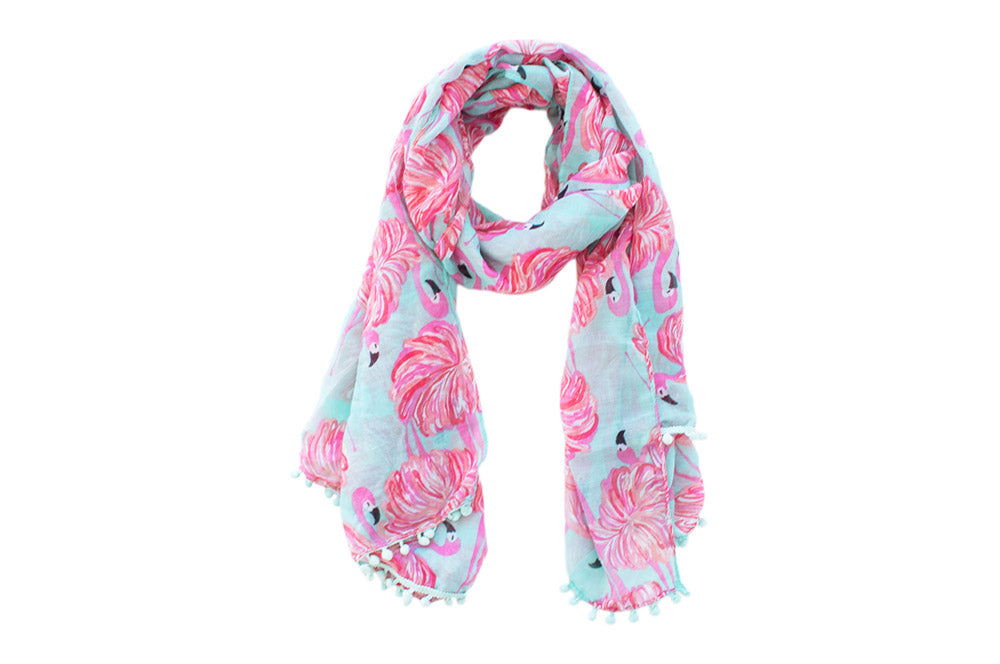 Scarf - Hot Pink Flamingo