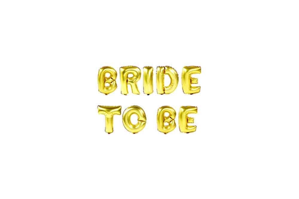 Balloons - Bride To Be Gold Foil