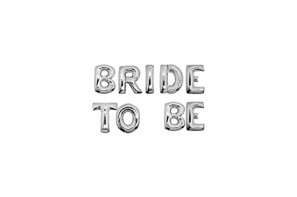 Balloons - Bride To Be Silver Foil