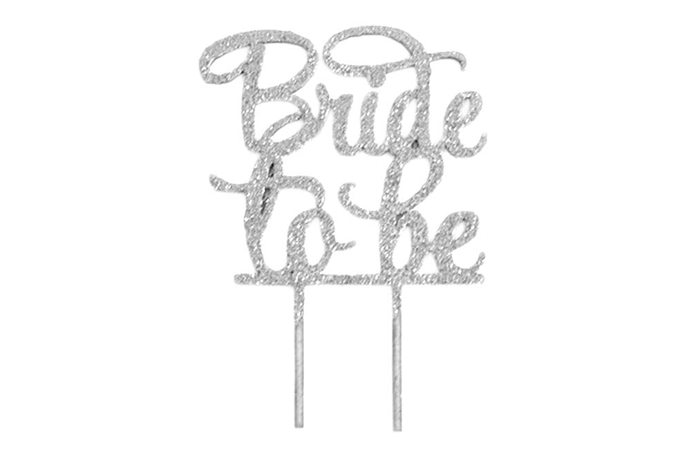 Cake Topper - Bride To Be Silver