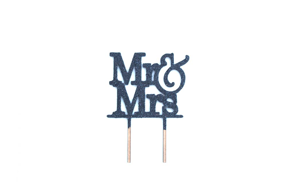 Cake Topper - Mr & Mrs Black
