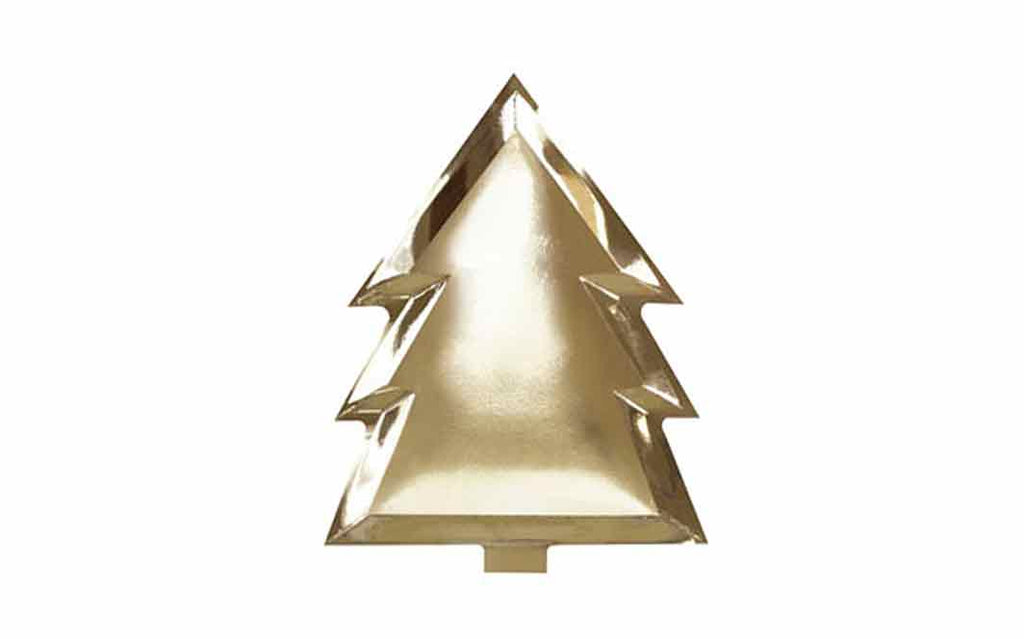 Paper Plates - Gold Christmas Tree