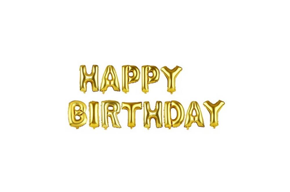 Balloons - Happy Birthday Gold Foil