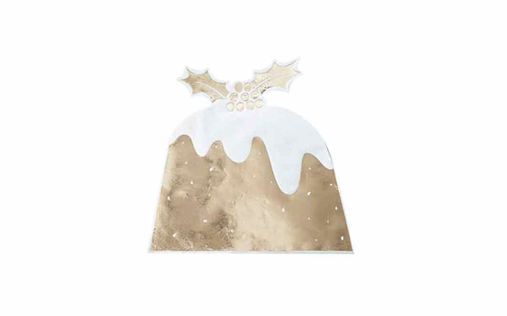 Serviettes - Gold Christmas Pudding