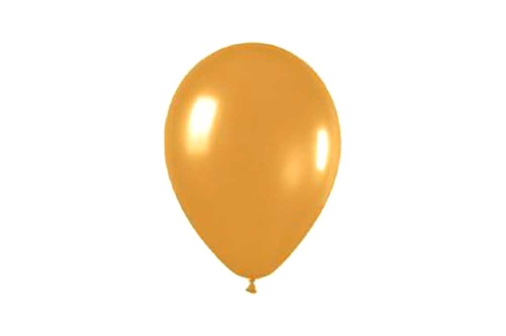 Balloons - Gold Metallic & White