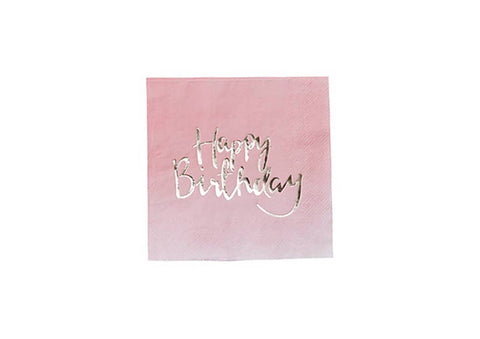 Serviettes - Happy Birthday