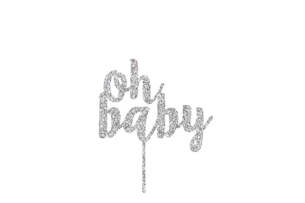 Cake Topper - Oh Baby Acrylic