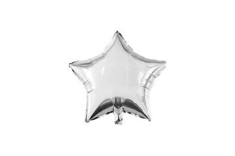 Balloons - Star Silver Foil