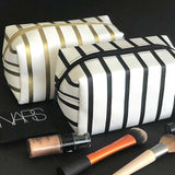 Bag - Make-up Gold Striped