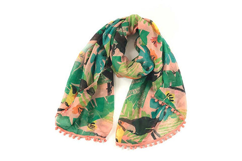 Scarf - Tropical Toucan - Malibu Peach