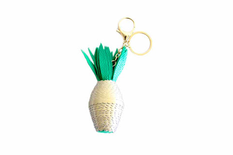 Pineapple Keyring - Gold