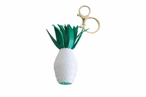 Pineapple Keyring - White