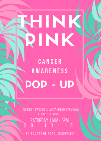 THINK PINK CANCER AWARENESS POP-UP TICKET
