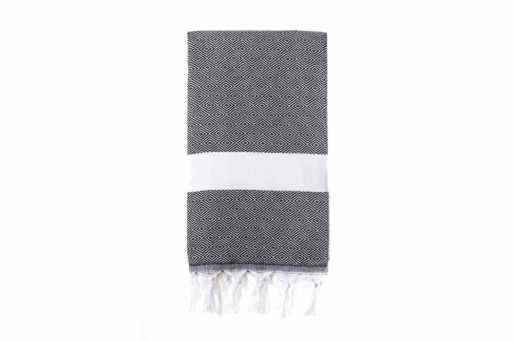 Turkish Towel - Dimanta Black