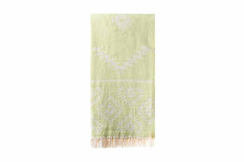 Turkish Towel - Kelim Lime Green