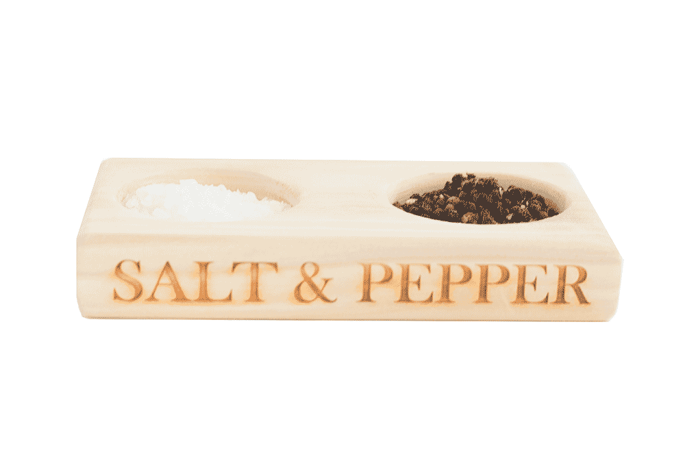 Salt & Pepper - Wooden Board