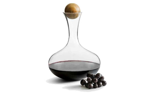 Glass - Carafe - Wine with Oak Stopper