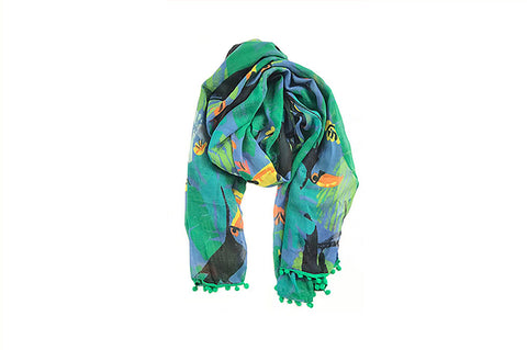 Scarf - Tropical Toucan - Emerald