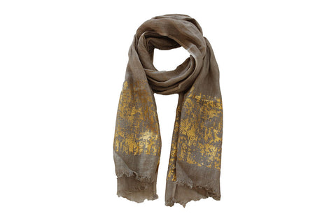 Scarf - Luxury Linen Jute with Gold