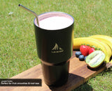 Stainless Steel Tumbler 30z - Ideal For Coffees, Teas, Smoothies - Keeps Liquids Hot For 6 Hours and Cold For 24 Hours