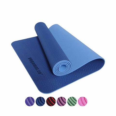 TPE Yoga Mat with Carry Bag and Rope (Mat = L 183cm x W 61cm x H 0.6cm)
