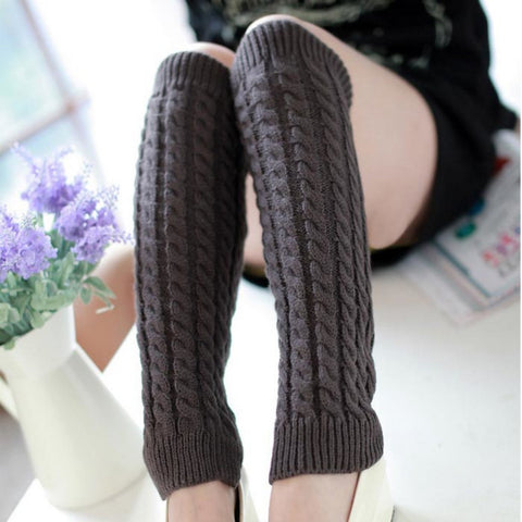 Winter Knitted Crochet Yoga Leg Warmers
