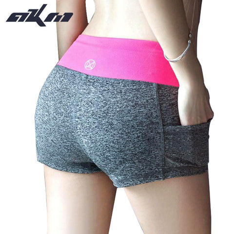 Women's Casual Running / Workout Shorts with Side Pockets and Elastic Waist Band