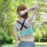 Yoga Push Up Sports Bra for With X-Cross Straps and Removable Pads