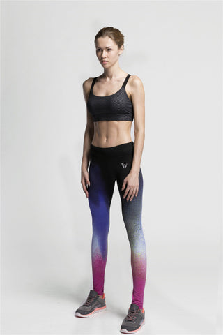 Womens baselayer leggings in mixed tone colours for yoga