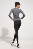 Simenual White Stripes Fitness Leggings