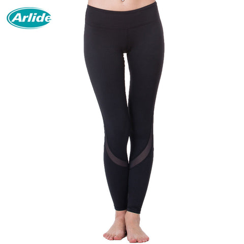 Yoga Sports Leggings For Woman With Mesh Design