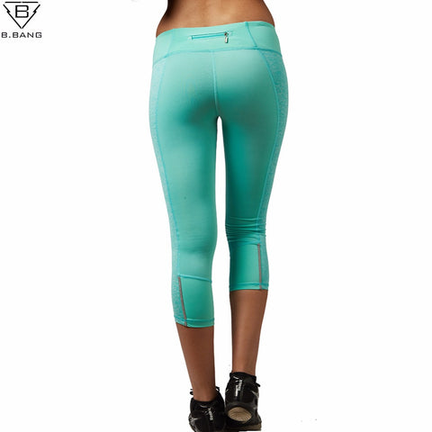 B.BANG Womens Yoga Pants / Slim Leggings Running Sportswear (Quick Drying Sport Trousers)