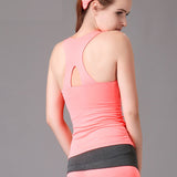 Womens Exercise and Yoga Tank Top with Cross-back Design