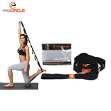 "PROCIRCLE Yoga Stretch Strap with Multiple Grip Loops (1.6"" width)"