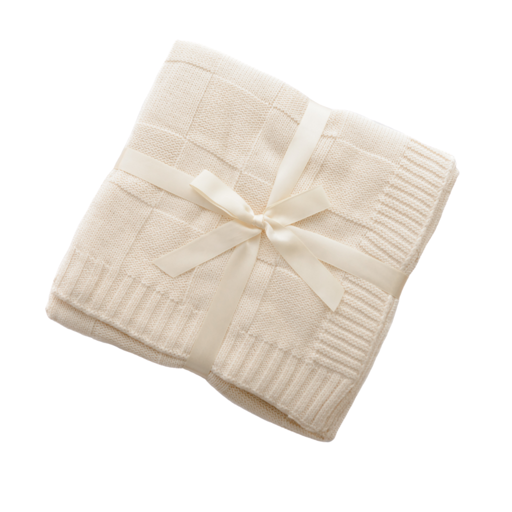Anchor & Arrow - Knit Baby Blanket - Cream