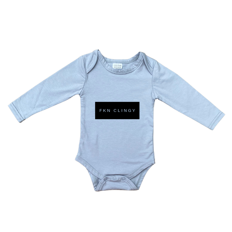 MLW By Design - FKN CLINGY Long Sleeve Bodysuit | Blue